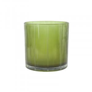 Suport verde din sticla pentru lumanare 15 cm Lark Lifestyle Home Collection