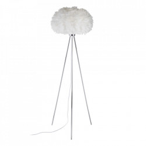 Lampadar alb/argintiu din pene si metal 165 cm Juyi Ixia
