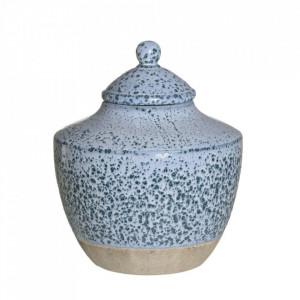 Recipient albastru din ceramica cu capac 21,5x25,5 cm Barmen Ixia
