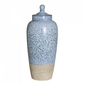 Recipient albastru din ceramica cu capac 17,5x41 cm Dorob Ixia