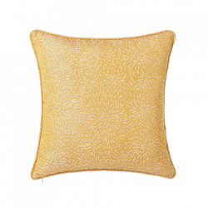 Perna decorativa patrata galbena din poliester 45x45 cm Loving Unimasa