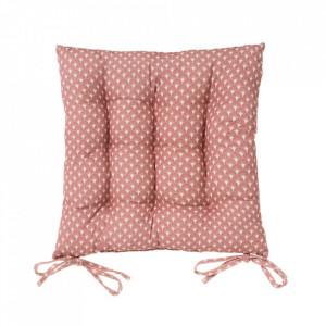 Perna patrata roz din poliester si bumbac pentru sezut 40x40 cm Luz Luna Unimasa