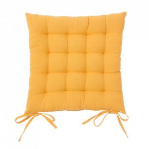 Perna patrata galbena din poliester si bumbac pentru sezut 40x40 cm Loving Colours Unimasa