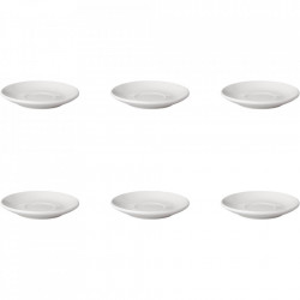 Set 6 farfurioare albe din portelan 13,5 cm Budge Mammoet