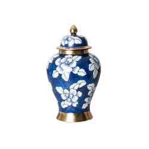 Recipient cu capac multicolor din ceramica 22x38 cm Miliana Vical Home