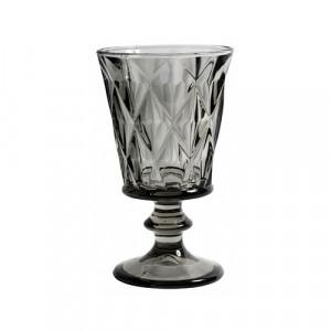 Pahar gri fum din sticla pentru vin 200 ml Diamond Nordal
