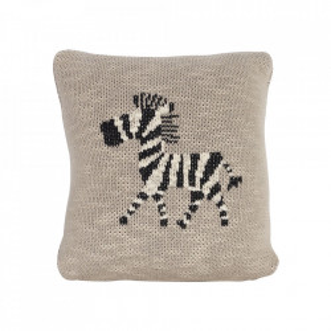 Perna decorativa patrata din bumbac 30x30 cm Zebra Quax
