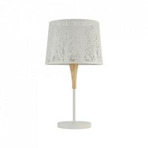Veioza alba din metal si lemn 62 cm Lantern Maytoni
