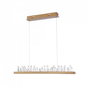 Lustra maro alama din metal si sticla cu LED Gletscher Design Maytoni