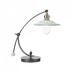 Lampa birou maro bronz/alba din metal si sticla 44,2 cm Senna Maytoni