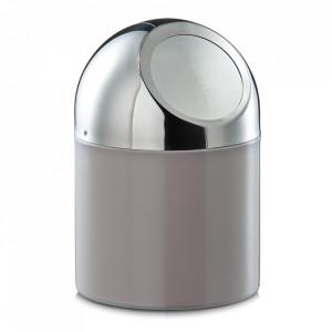 Cos de gunoi grej/argintiu din inox pentru birou 12x18 cm Cory Zeller