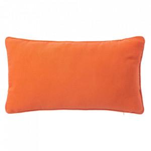 Perna decorativa dreptunghiulara portocalie din poliester si bumbac 30x50 cm Loving Colours Unimasa
