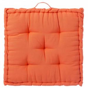 Perna patrata portocalie din poliester si bumbac pentru sezut 60x60 cm Loving Colours Unimasa