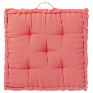 Perna patrata rosu corai din poliester si bumbac pentru sezut 60x60 cm Loving Colours Unimasa