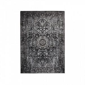 Covor negru din viscoza si poliester 160x230 cm Chi Black White Label