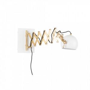 Aplica flexibila din metal alb si alama Sarana White Label