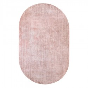 Covor roz din viscoza 150x240 cm Oval Nude HK Living