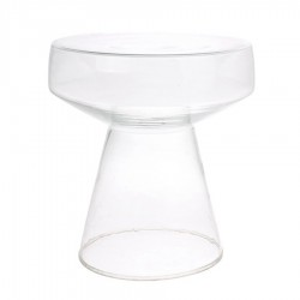 Masa cafea din sticla transparenta 42 cm Glass HK Living