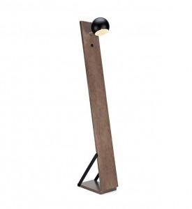 Lampadar maro din lemn si metal 140 cm Fletcher Markslojd