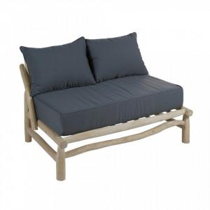 Canapea din lemn tec si perne gri 131 cm Capri Santiago Pons