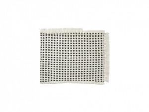 Covoras alb/albastru din poliester reciclat 50x70 cm Way Ferm Living