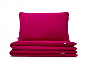 Lenjerie de pat roz din bumbac Basic Raspberry Single Mumla (diverse dimensiuni)