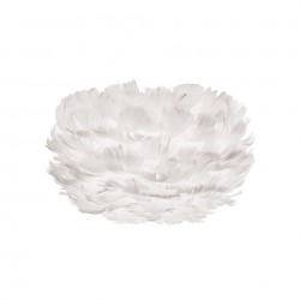 Abajur alb din pene si otel Eos Micro White Umage
