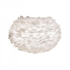Abajur alb din pene si otel Eos Medium White Umage