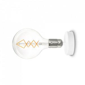 Aplica alba/argintie din otel Uno Bulb Attack