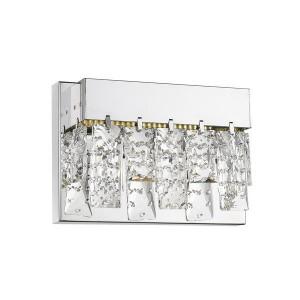 Aplica argintie din metal si sticla cu LED Spark Zuma Line