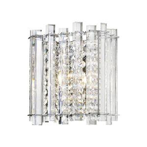 Aplica argintie din sticla si metal cu 5 becuri Ventus Silver Zuma Line