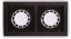 Aplica cu halogen neagra din metal cu 2 becuri Matrix Double Maxlight