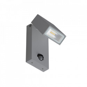 Aplica gri din aluminiu si sticla cu LED pentru exterior Mercury MW Glasberg