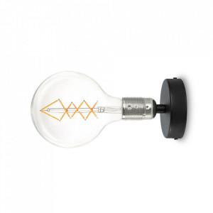 Aplica neagra/argintie din otel Uno Bulb Attack