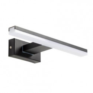 Aplica neagra din otel cu LED Vissia Kave Home