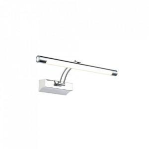 Aplica pentru tablou argintie din metal cu LED Mirror Fino S Maytoni