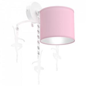 Aplica roz din metal si textil Baletnica Milagro Lighting