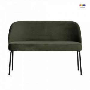 Banca verde din catifea si otel 120 cm Vogue Onyx Be Pure Home