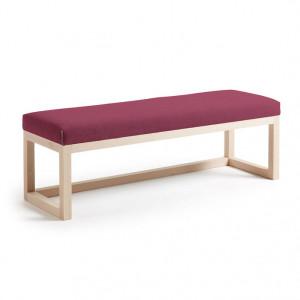 Bancheta din lemn si textil burgundy Yola La Forma