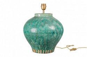 Baza pentru veioza verde din ceramica 40 cm Ceres Versmissen