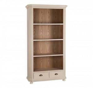 Biblioteca crem din lemn de paulownia si MDF 186 cm Johnson Ixia
