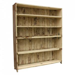 Biblioteca maro din lemn 203 cm Billie Raw Materials