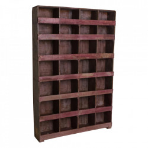 Biblioteca maro/roz din lemn 185 cm Pigeon Raw Materials
