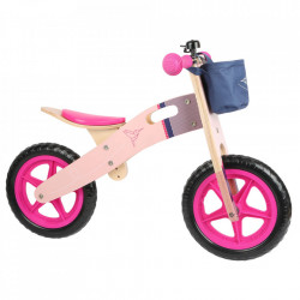 Bicicleta fara pedale multicolora din lemn si placaj Balance Small Foot