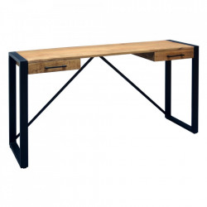 Birou maro/negru din lemn de mango si fier 40x140 cm Amnelia Ixia