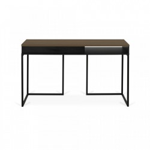Birou maro/negru din MDF si metal 50x130 cm City TemaHome