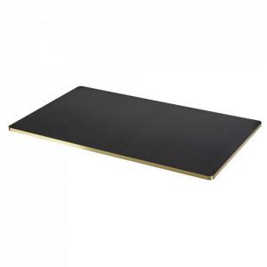 Blat pentru masa negru/auriu din lemn 75x130 cm Sanba Serax
