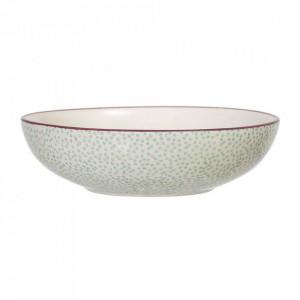 Bol alb/verde din ceramica 900 ml Patrizia Bloomingville