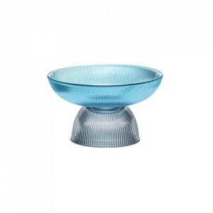 Bol decorativ albastru/gri din sticla 16 cm Smoked Bowl Hubsch