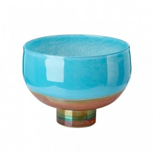 Bol multicolor din sticla 19,5x25 cm Horizon Aqua Pols Potten